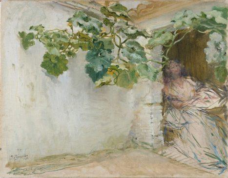 Ignacio Pinazo / Rincón con labradora, 1885