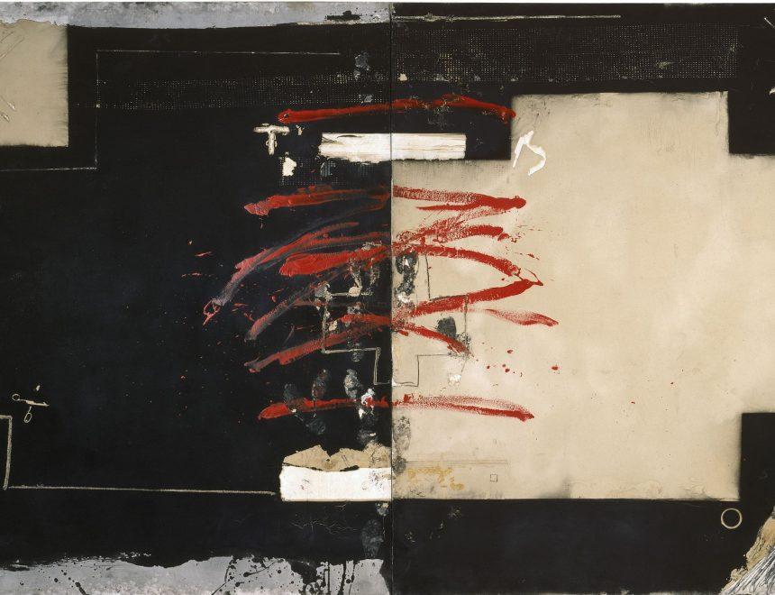 Antoni Tàpies / Gran diptic roig i negre, 1980