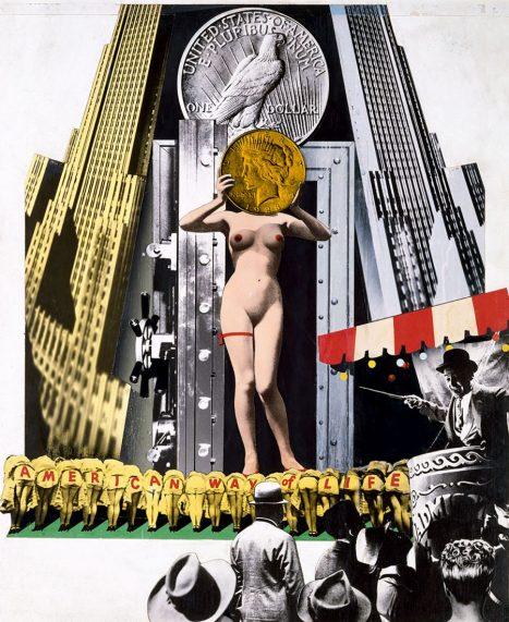 Josep Renau / The Big Parade. Serie The American Way of Life, 1957. IVAM, Institut Valencià d'Art Modern, Generalitat. Depósito Fundación Renau, Valencia