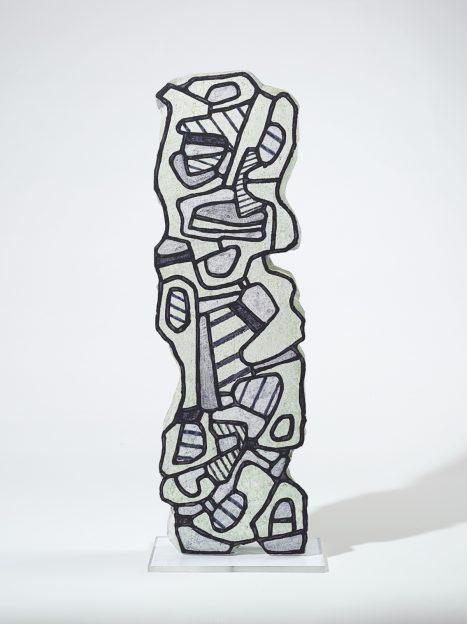 Jean DUBUFFET / Personnage aux bajoues,1967. Resina de poliéster 125,7 x 39,4 x 10,2cm Colección Hortensia Herrero. © Jean Dubuffet, VEGAP, Valencia, 2019