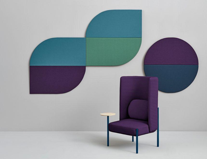 Pause, diseñado por PerezOchando para Missana en 2018, colección de paneles acústicos