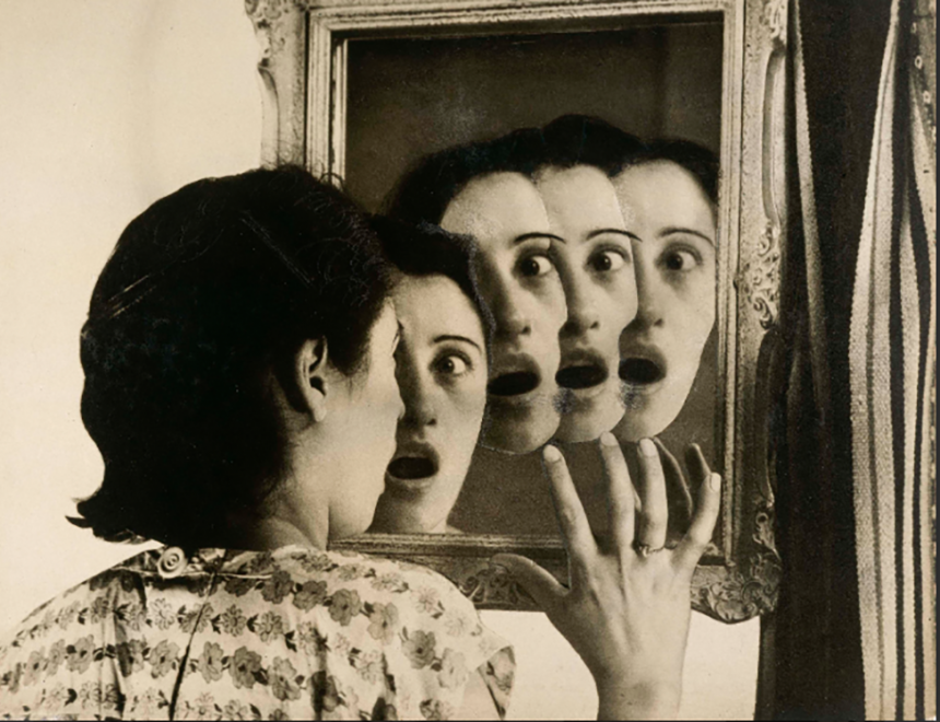 "Grete Stern / Dream nº 7: Who will it be ?, from the series ""The dreams"", photomontages. Buenos Aires, 1949"