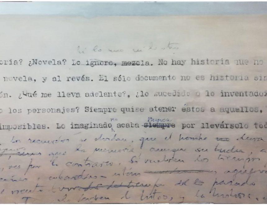Chema López / Historia y novela (a partir del manuscrito de Campos de Almendros,Fundación Max Aub), 2018