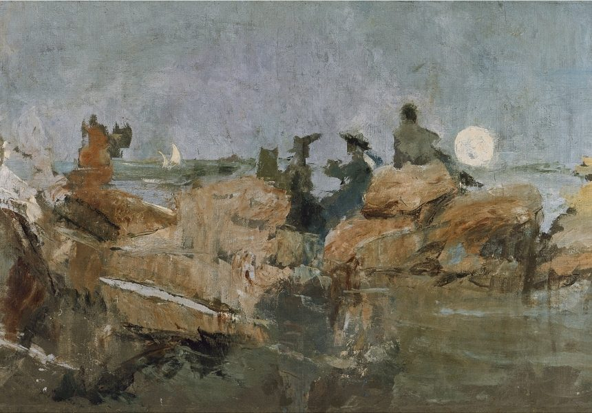Ignacio Pinazo / Anochecer en la escollera III, 1898 - 1900