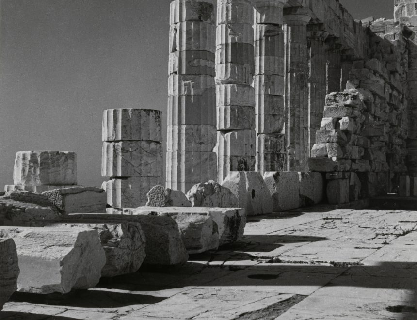 Herbert List / Cella and Portico of the Partenon, Athens, 1937