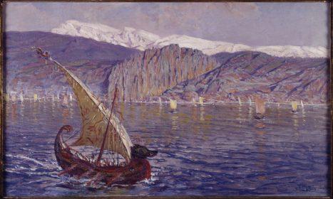 Muñoz Degraín / El Líbano desde el mar, 1909