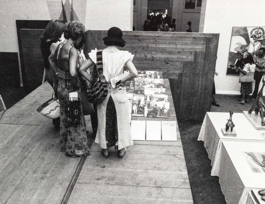 View of the exhibition Spain. Artistic Vanguard and Social Reality, 1936-1976 at the 1976 Venice Biennale