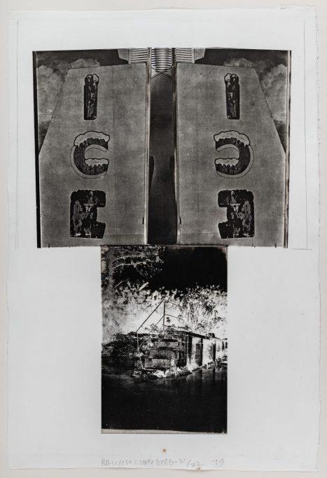 Robert Rauschenberg / Glacial Decoy Series: Etching, III, 1979. IVAM. Institut Valencià d'Art Modern. Generalitat Valenciana