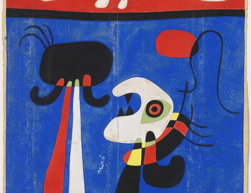JOAN MIRÓ / Sin título (Diseño para estarcido), ca. 1946. Fundació Joan Miró. © Successió Miró 2018