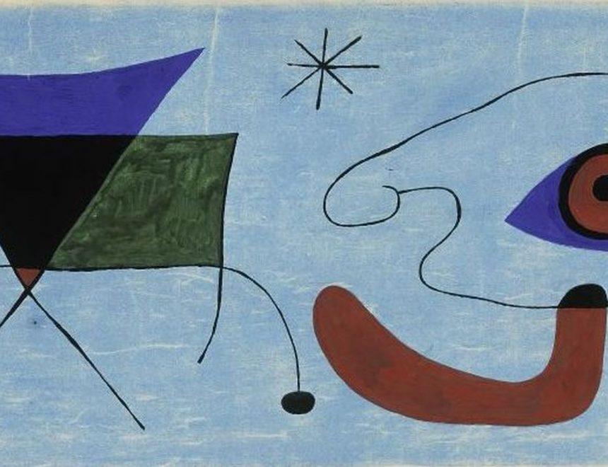Joan Miró / Boceto para la pintura mural del Terrace Plaza Hotel de Cincinnati, 1947. Fundació Joan Miró. © Successió Miró 2018
