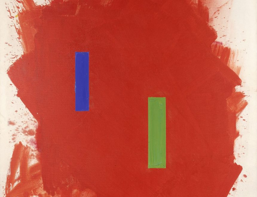 Hans Hofmann / Scintillating red, 1962