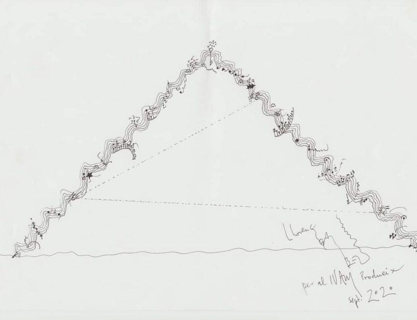 Llorenç Barber / Imagen partitura escalera, 2020