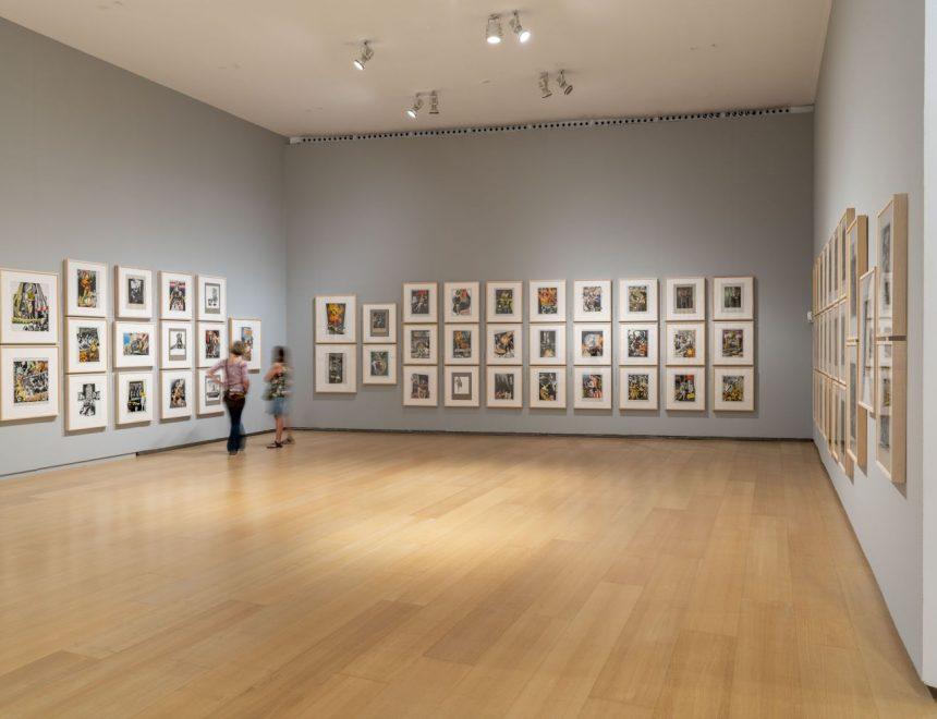 """Vista de la exposición """"Los exilios de Renau"""", 2021"""