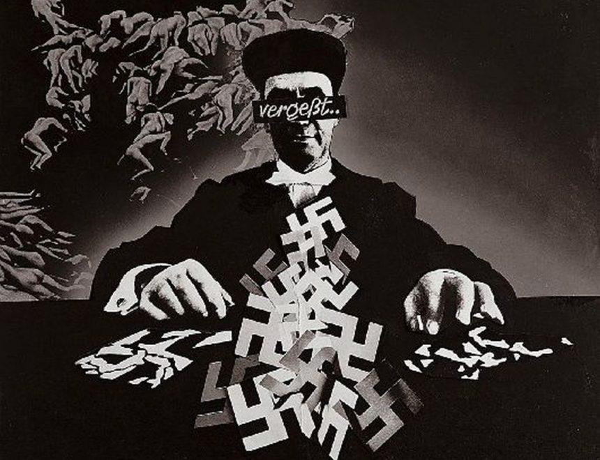 "Josep Renau / Über Deutschland -9 ""Vergeßt"", 1966. IVAM, Institut Valencià d'Art Modern, Generalitat. Depòsit Fundació Josep Renau, València."