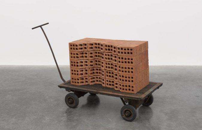 Mona Hatoum / A Pile of Bricks, 2019. © Mona Hatoum. Photo © White Cube (Theo Christelis)
