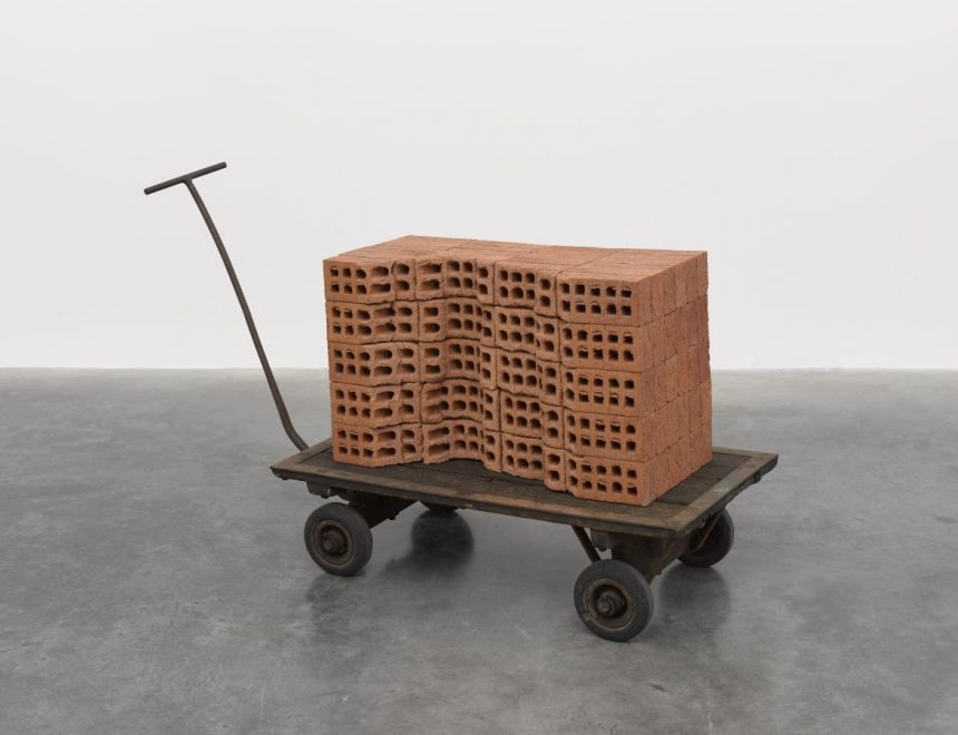 Mona Hatoum / A Pile of Bricks, 2019. © Mona Hatoum. Photo © White Cube (Theo Christelis)