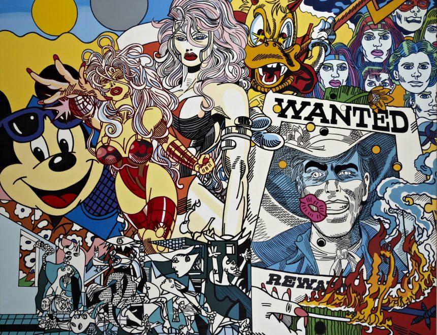 Erró / Wanted, ca. 1999 - 2000