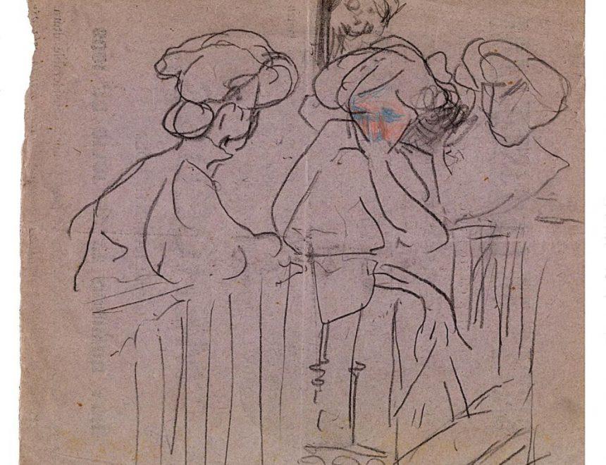 Ignacio Pinazo Camarlench / Figuras femeninas, ca. 1909. IVAM, Institut Valencià d' Art Modern, Generalitat.