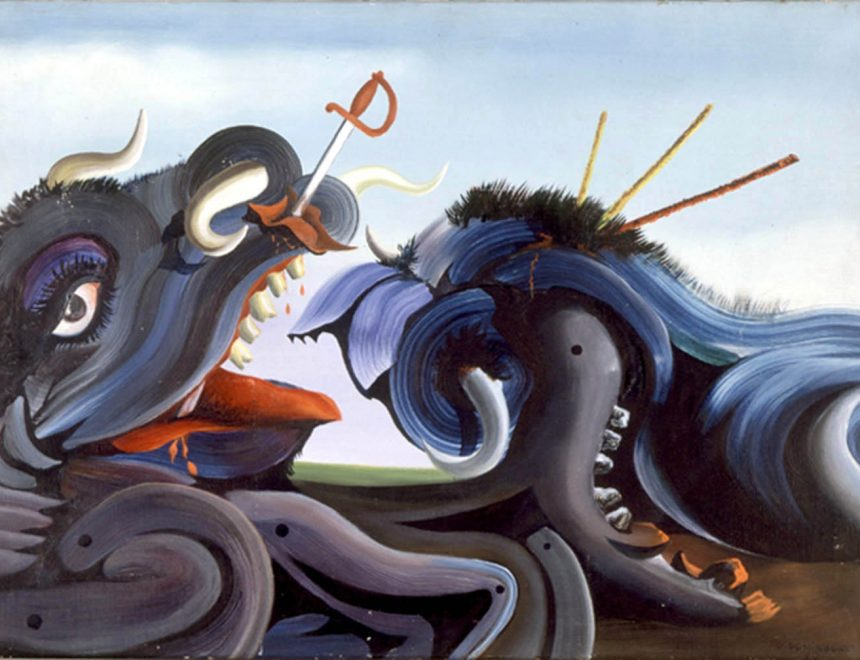 Le taureau blessé, 1939