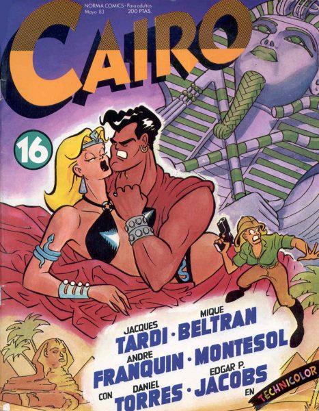 Mique Beltrán / Portada de Cairo 16, (Norma Editorial, 1983)