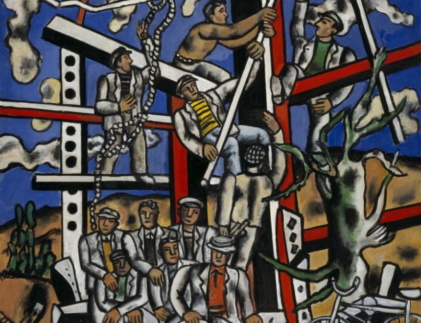 """Fernand Léger / Étude pour """"Les Constructeurs""""; l'equipe au repos, 1950 _ National Galleries of Scotland © Fernand Léger, VEGAP, Valencia, 2019"""