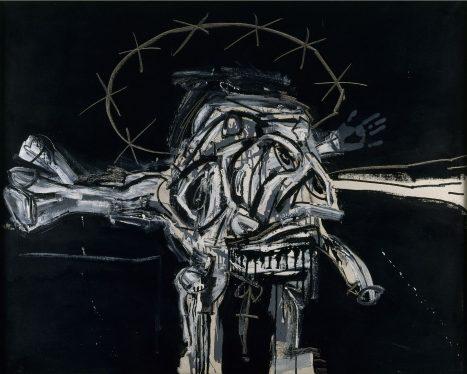 Antonio Saura / Crucifixión, 1959. Colección del IVAM © Succession Antonio Saura / www.antoniosaura.org / A+V Agencia de Creadores Visuales 2018.
