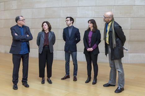 José Miguel G. Cortés, director de l'IVAM; Suzanne Cotter, directora del museu Serralves; Marta Moreira de Almeida i Joao Ribas, comissaris de la mostra