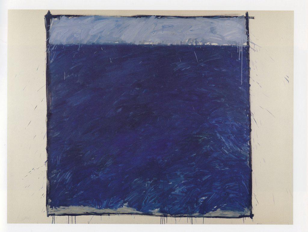 Jordi Teixidor / Pintura azul 1, 1986