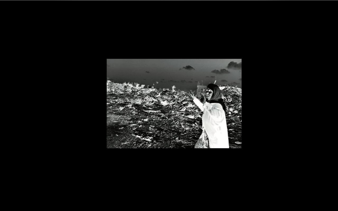 Rula Halawani / Untitled III (Sín título III), de la serie Negative Incursion (Incursión negativa), 2002